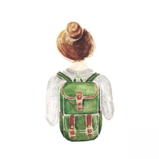 Reisen mit Handgepäck minimalistisch Packen Rucksack