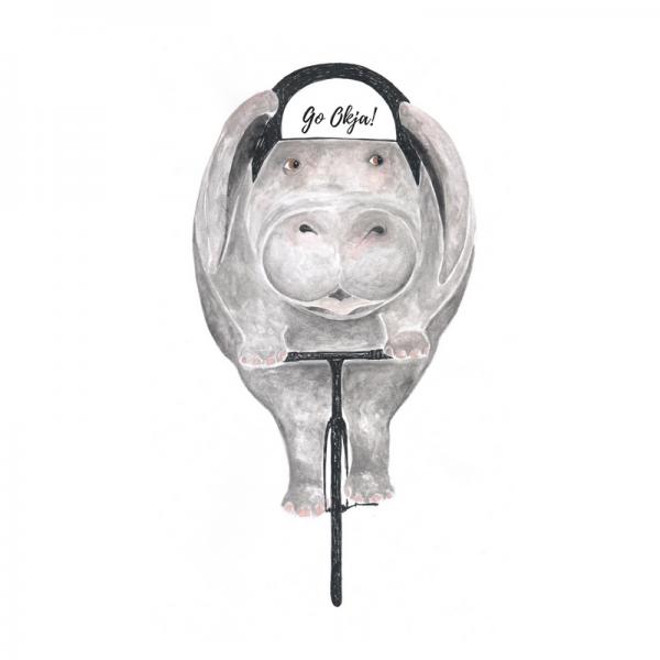 Okja-Schwein-auf-Fahrrad