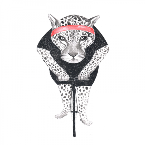 Leopard-illustration-fahrrad-bike-whysoserious